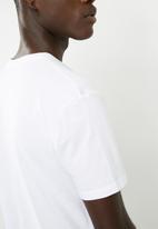 basicthread - Graphic crew neck tee - white