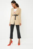 Missguided - Core boyfriend blazer - beige