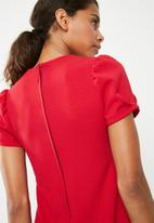 Superbalist - Bodycon shift dress - red