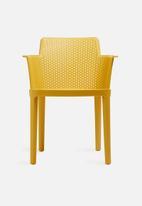 Sixth Floor - Perforated armchair - mustard