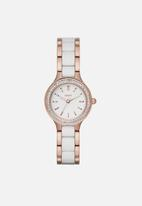 DKNY - Chambers - rose gold & white