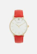 Superbalist - Lucy leather watch - red