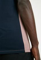 Superbalist - Loose fit colour-blocked tee - pink & navy