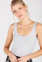 Supré  - Thick Strap Tank-Grey Marle