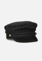 Supré  - Cord gia tomboy cap - black