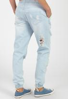 Supré  - The jogger ultra distressed jean - blue