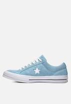 Converse - One Star Suede OX - shoreline blue/white