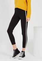Supré  - The side stripe legging - black