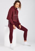 Supré  - The side stripe legging - burgundy
