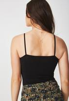 Supré  - Basic cami - black