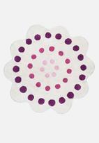 Sixth Floor - Flora kids rug - purple