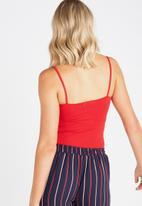 Supré  - Square neck cami -red