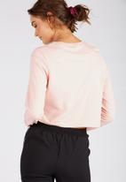 Supré  - Printed long sleeve loose crop - blush
