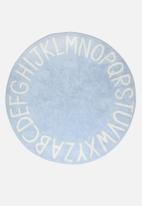 Sixth Floor - Alphabet kids rug - blue