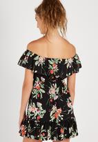 Supré  - Lily off shoulder dress - dark texas floral