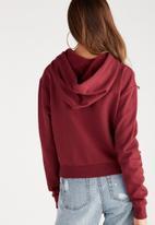 Supré  - Embellished sweat - burgundy