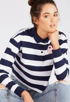 Supré  - Rugby top - navy - stripe
