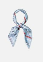 Supré  - Satin scarf - light blue stripe