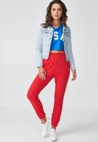 Supré  - Casual crop denim jacket - mid blue