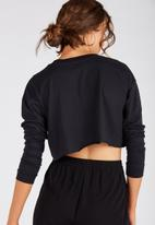 Supré  - Long sleeve super crop - black