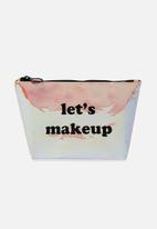 Supré  - Goto beauty pouch - holographic make up