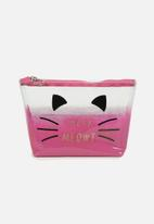 Supré  - Goto beauty pouch - pink ombre meow