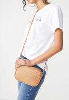 Rubi - Cameron cross body bag - tan woven