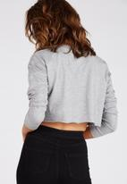 Supré  - Long sleeve super crop cuff tee - grey marle