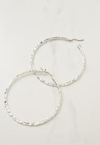 Cotton On - Harper core hoop earring  - silver