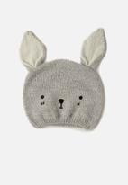 Cotton On - Baby Critter beanie - Rabbit