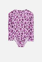 Cotton On - Lydia rashie swimsuit - Pink