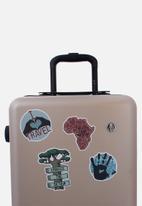 Escape Society - Heritage luggage personalisation sticker set of 4 - multi