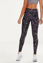 Cotton On - Knot front studio tight - floral black