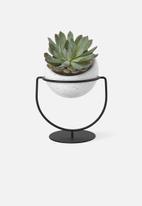 Umbra - Nesta planter - black & white