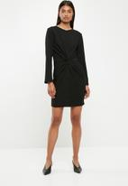 Superbalist - Long sleeve knit detail dress - black