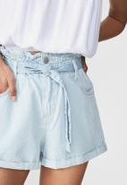 Cotton On - Paperbag short - light blue