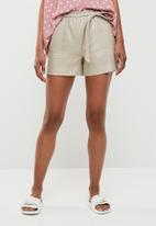 Superbalist - Linen blend soft shorts - beige