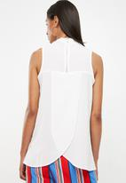 Superbalist - Turtle neck blouse with wrap back - cream