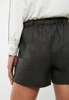 Superbalist - Linen blend soft shorts - grey