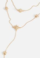 Cotton On - Luna multi layer chain necklace - gold