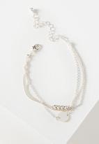 Cotton On - Ophelia layer bracelet - silver