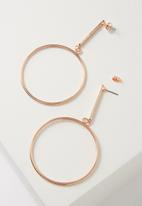 Cotton On - Core hoop earring - rose gold