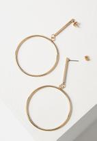 Cotton On - Core hoop earring - gold