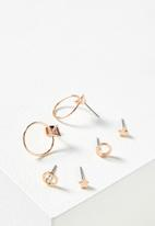 Cotton On - Bianca core stud pack - rose gold