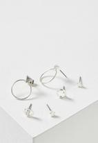 Cotton On - Bianca core stud pack - silver