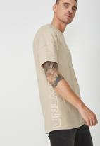 Cotton On - Drop shoulder longline tee - beige
