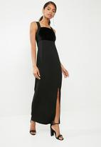 Superbalist - Scuba maxi with high slit - black