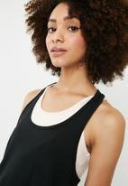dailyfriday - Y back contrast vest - black