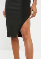 Superbalist - Aysmetrical dress with slit detail - black