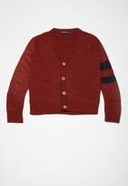 Superbalist - Two stripe cardi - red
